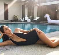 Mariana Downing acompañó al cantante durante sus vacaciones en el Caribe. Foto: Instagram