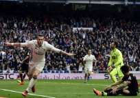 Gareth Bale (i.) hizo el segundo gol del Real Madrid. Foto: AFP