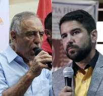 Hasta las 22H10, con el 76,5% de las actas escrutadas, Moreno y Lasso encabezan votaciones. Foto: Collage / API