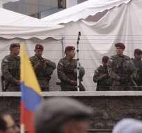 Alrededor de 40 mil militares resguardaron el proceso electoral del domingo. Foto: API