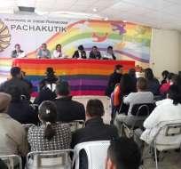 ECUADOR.- El movimiento indígena decidió su posición luego de 5 horas de Consejo Político en su sede en Quito. Foto: Ecuavisa