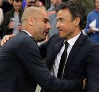 Pep Guardiola lamenta la decisión del asturiano Luis Enrique de abandonar al Barcelona.