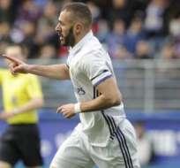 Karim Benzema marcó un doblete en la goleada 4-1 del Real Madrid sobre Eibar.