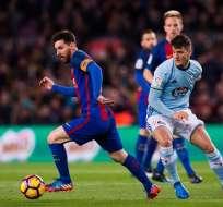 Lionel Messi marcó un doblete en la goleada del FC Barcelona sobre el Celta.