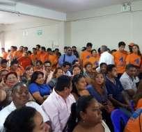 Centro Democrático definió hoy su postura para la segunda vuelta en un auditorio lleno en Guayaquil.Foto: Rafael Hernández