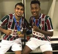 Junior Sornoza y Jefferson Orejuela ganaron su primer título con el Fluminense.