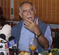 ECUADOR.- El excandidato presidencial Paco Moncayo aclaró que no hará campaña por Guillermo Lasso. Foto: API