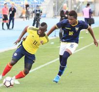 La selección colombiana le ha ganado los dos partidos a Ecuador. Foto: Tomada de ecuafutbol.org