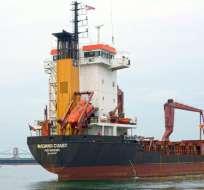 ISLAS GALÁPAGOS, Ecuador.- Navío cuenta con capacidad de 373 contenedores y sustituirá al carguero Isla Bartolomé. Foto: Twitter Gobierno Galápagos.