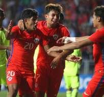 La selección sub 17 de Chile se impuso por la mínima diferencia a Venezuela.