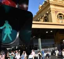 La ciudad australiana de Melbourne ha colocado personajes femeninos en sus semáforos. Foto: AFP