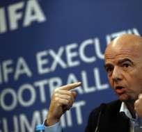 Gianni Infantino afirmó que las condiciones para las candidaturas son iguales para todos. Foto: AFP