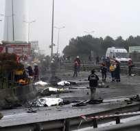 Siete personas, cuatro rusos y tres turcos, se encontraban a bordo de la aeronave. Foto: AFP