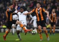 Swansea City sigue en la pelea por no descender a segunda categoría. Foto: AFP