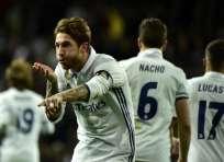 Sergio Ramos lleva 7 goles anotados en esta temporada con el Real Madrid. Foto: AFP
