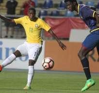 Brasil goleó a Ecuador y lidera el hexagonal del Sudamericano sub 17, que da cuatro cupos al mundial de la categoría en India.