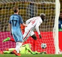 El Mónaco clasificó a los cuartos de final gracias a los goles en condición de visitante. Foto: AFP