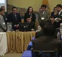 ECUADOR.- Varios concursantes pidieron que se transparente el detalle de la calificación perfecta de la carpeta de Baca. Foto: API