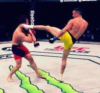 El ecuatoriano 'Chito' Vera ganó un combate de la UFC en Londres, Inglaterra.