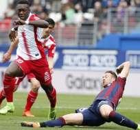 El ecuatoriano Felipe Caicedo fue titular en el empate del Espanyol en condición de local.