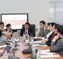 QUITO, Ecuador.- La Comisión de Justicia de la Asamblea congregó a miembros de Contraloría, CNE y Participación Ciudadana. Foto: Asamblea