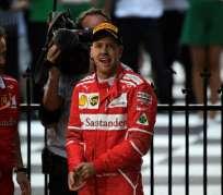 El alemán Sebastian Vettel no ganaba un Gran Premio desde el 2015. Foto: AFP
