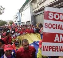 """VENEZUELA.- Los oficialistas se tomarán calles del centro de Caracas en la """"marcha antiimperialista"""". Foto: Archivo"""