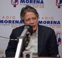 Guillermo Lasso siguió hoy con su agenda electoral, por la mañana tuvo entrevistas con medios de TV y de radio. Foto: TW de CREO
