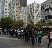 En total, 13,5 millones de personas se hallan en busca de un empleo, según el IBGE. Foto: AFP