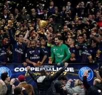 PSG gana su cuarta Copa de la Liga de manera consecutiva. Goleó 4-1 al Mónaco.