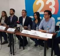 ECUADOR.- El asambleísta Guillermo Celi enfatizó que los militantes de CREO se mantendrán en vigilia pacífica. Foto: API