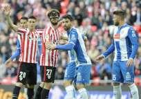 Athletic Bilbao y Espanyol se enfrentaron en el estadio San Mamés. Foto: Tomada de la cuenta Twitter @RCDEspanyol