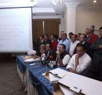 QUITO, Ecuador.- César Monge, director del movimiento CREO, pidió al CNE dar trámite inmediato a su solicitud de conteo voto a voto. Foto: API