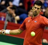 Novak Djokovic ganó el primer punto de la serie entre Serbia y España por Copa Davis.