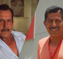 Pablo Córdova y Ángel Mera, sobrevivientes del terremoto del 16 de abril de 2016.