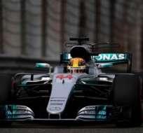 El piloto inglés consiguió su segunda pole position del año. Foto: AFP