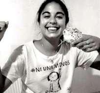 Micaela García era un activa miembro de las organizaciones defensoras de los derechos de las mujeres. Tenía 21 años.