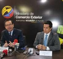 Cassinelli firmó un acuerdo para lograr el posicionamiento del camarón en los mercados internacionales. Foto: Ministerio de Comercio Exterior