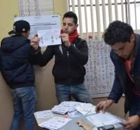 ECUADOR.- El CNE realizó el recuento de 300.000 votos, que ratificaron los resultados oficiales. Foto: API