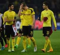 Borussia Dortmund no pudo remontar el marcador ante el elenco francés. Foto: AFP