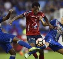 GUAYAQUIL, Ecuador.- Eduard Preciado anotó el único tanto del partido en el minuto 66.  Foto: AFP.