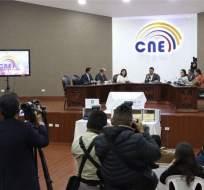 QUITO, Ecuador.- El organismo electoral recordó que el reconteo de actas objetadas será el 18 de abril. Foto: Twitter CNE.