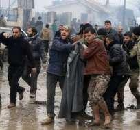 AL RISHIDIN, Siria.- Más de 7.000 personas fueron evacuadas el viernes 14 de cuatro localidades asediadas. Foto: Tomado de El País Internacional.com.