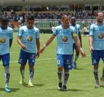 Macará derrotó por la mínima diferencia a Liga de Quito en el estadio Bellavista.