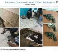 Evidencia incautada por la Policía en el operativo Sol Naciente y mostrada el jueves pasado. Foto: TW de Policía