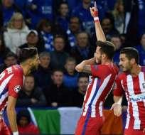 El Atlético Madrid venció 2-1 al Leicester en el marcador global. Foto: AFP