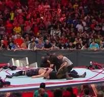 Braun Strowman y Big Show se enfrentaron en el combate estelar de RAW. Foto: Captura de pantalla