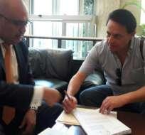 El Instituto Prensa y Sociedad (IPYS) divulgó la supuesta solicitud de Villavicencio. Foto: Tomado de PLAN V.