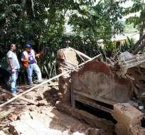 La zona rural de Las Lajas, en El Oro, ha sufrido varios deslaves en las últimas horas. Foto: RiesgosEC