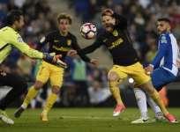 Atlético Madrid cortó una racha de 4 victorias consecutivas del Espanyol. Foto: AFP